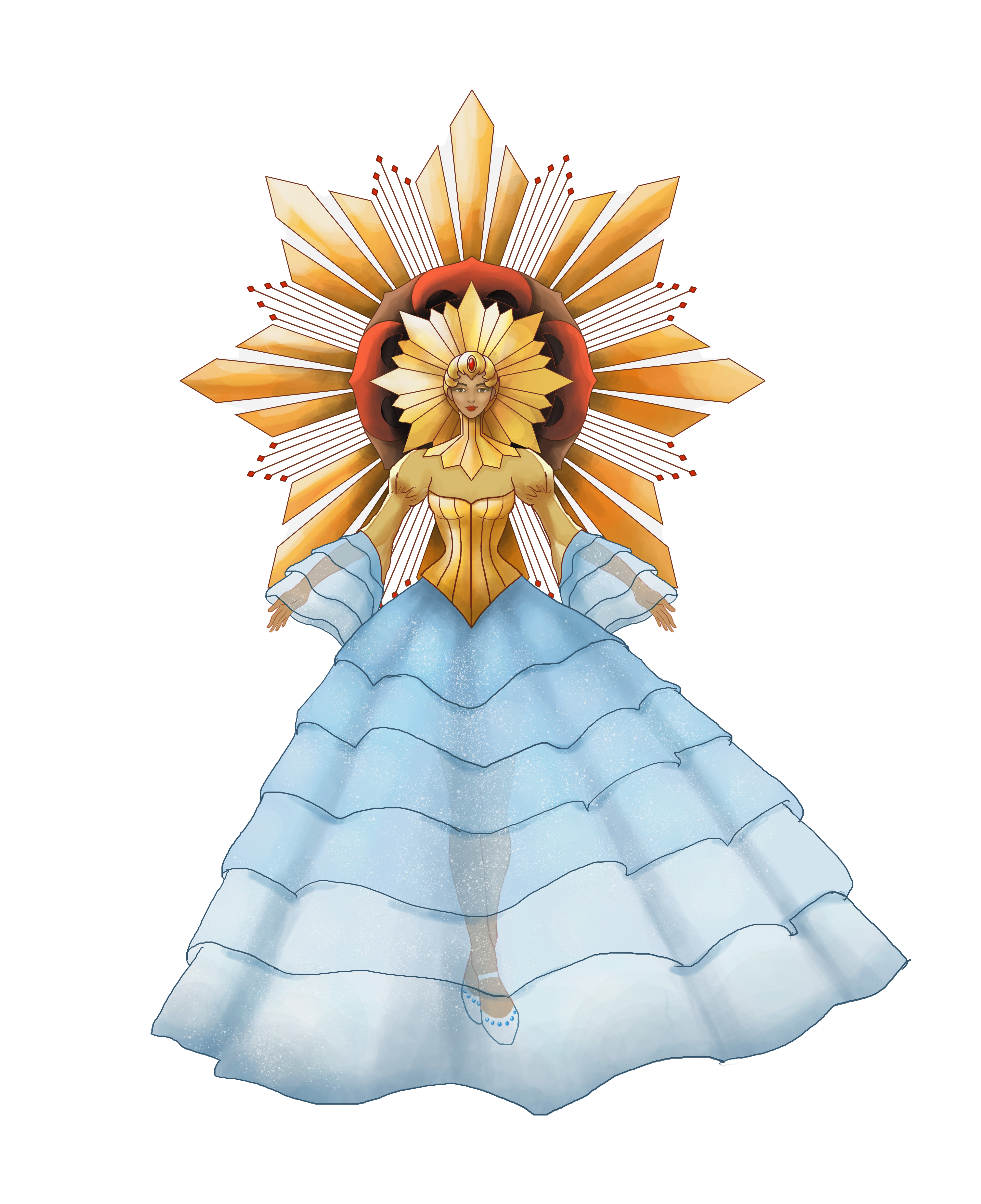 Sinulog Festival Queen Costume Design